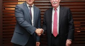 Danyliuk, Bolton discuss strengthening of Ukrainian-American relations. PHOTO