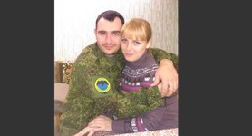 Russian occupant Alexander Yasinek seen in Donetsk with his family. PHOTOS