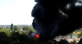 Flammable materials storage in Bucha near Kyiv on fire, one of tanks exploded, - State Emergency Service. VIDEO (updated)