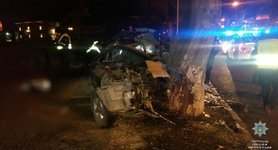 Three foreigners killed, one severely injured in car crash in Uzhhorod, - National Police. PHOTOS
