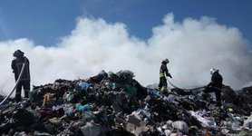 Garbage dump in Kyiv's larger area caught fire, - State Emergency Service. PHOTOS