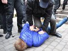 Police detains attackers of feminist rally held in downtown Kyiv. PHOTOS+VIDEO