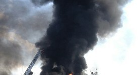 14 fuel containers continue burning at the oil depot near Kyiv, - State Emergency Service. PHOTOS