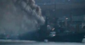 Russian Warship Caught Fire in Occupied Sevastopol. VIDEO